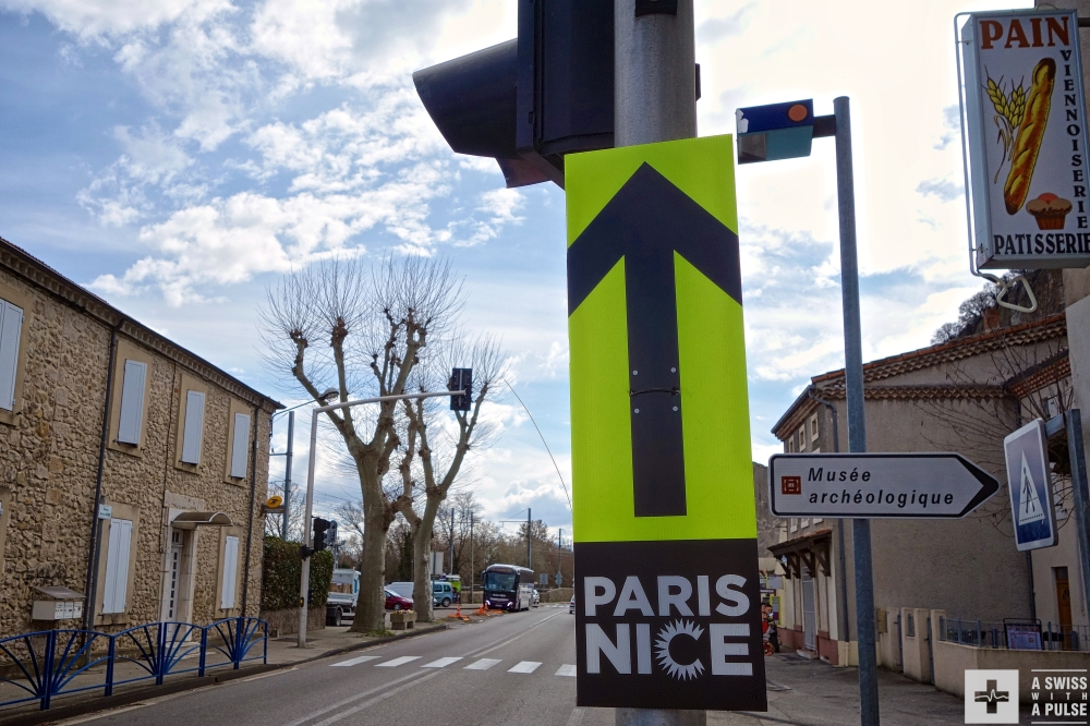 You know you're heading south when you see a Paris-Nice sign