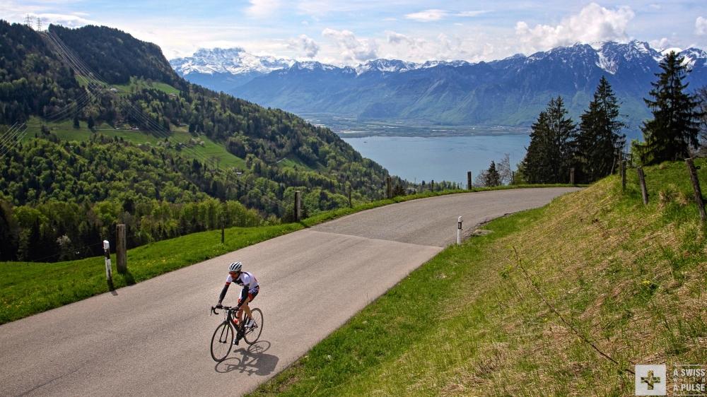 Beautiful views on Lake Geneva make climbing easier. Or not?