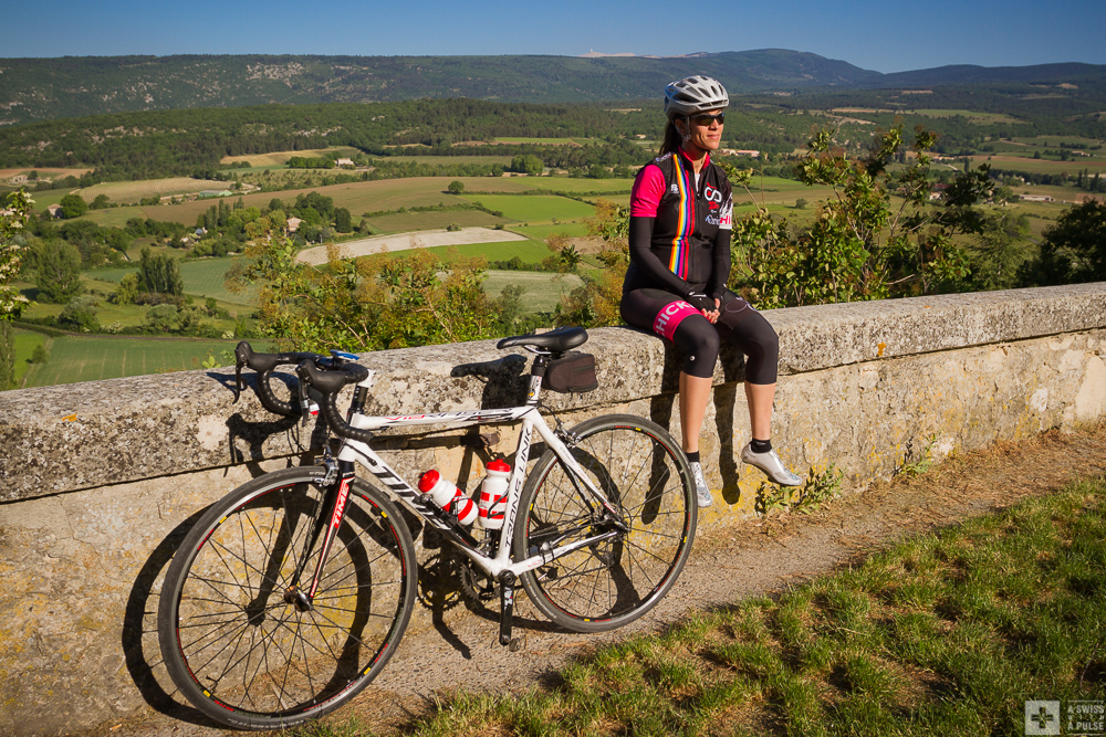 At the start in Sault. The Mont Ventoux is this tiny clear spot above Lillie