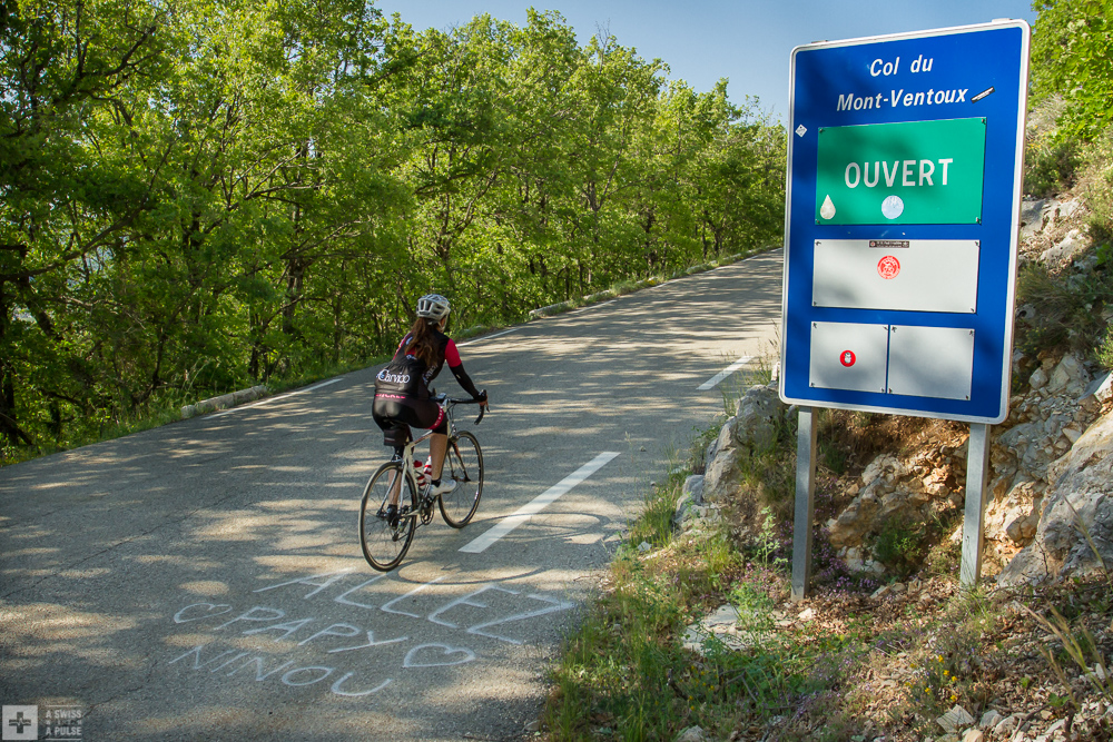 The road to Mont Ventoux between Sault and Chalet Reynard