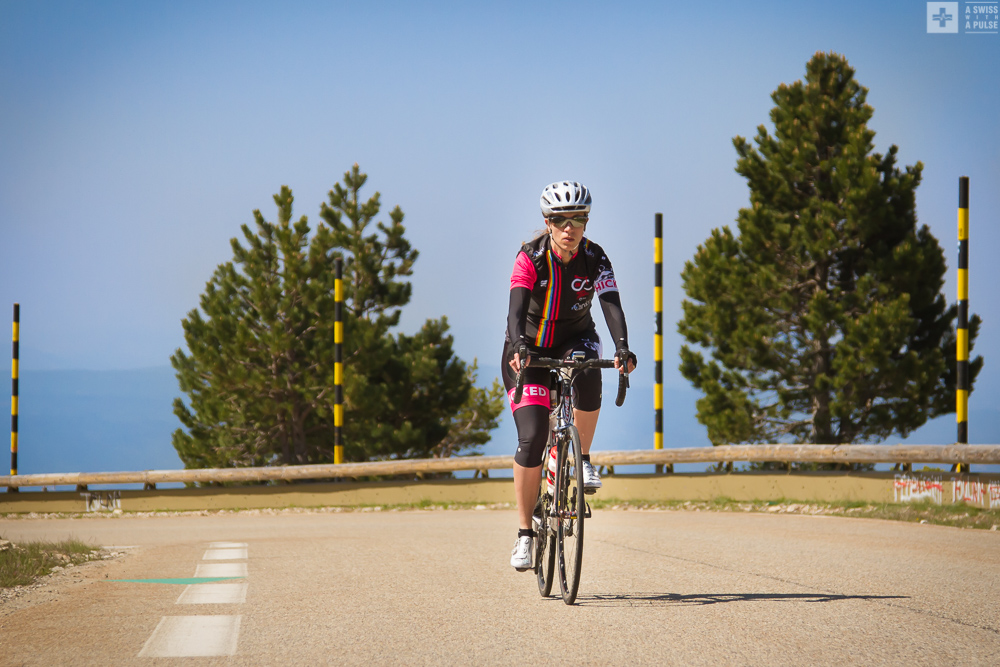 Climbing to Mont Ventoux from Chalet Reynard