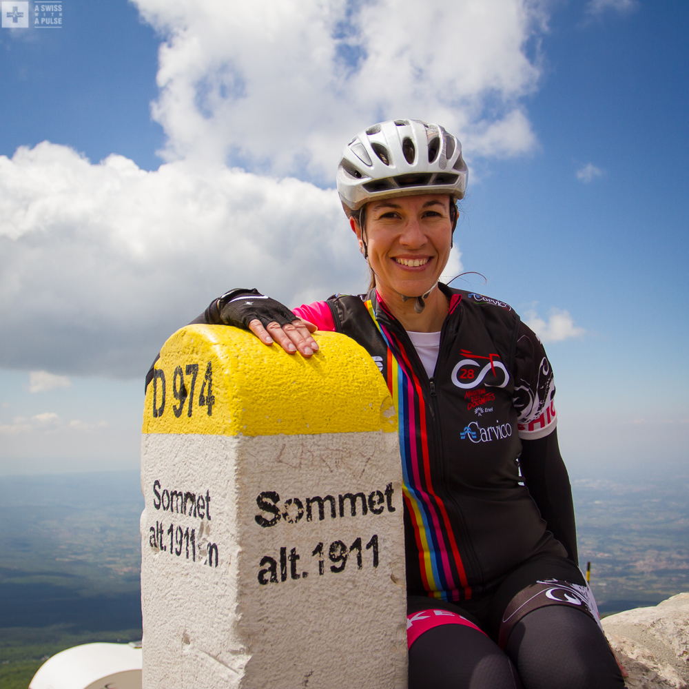 At the top of the Mont Ventoux
