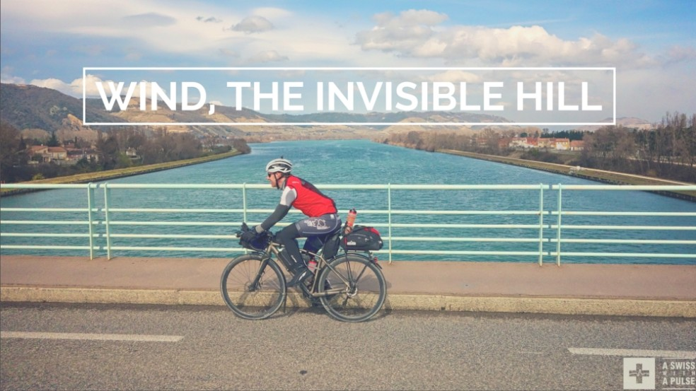 Ultralight bike touring in France: wind, the invisible hill