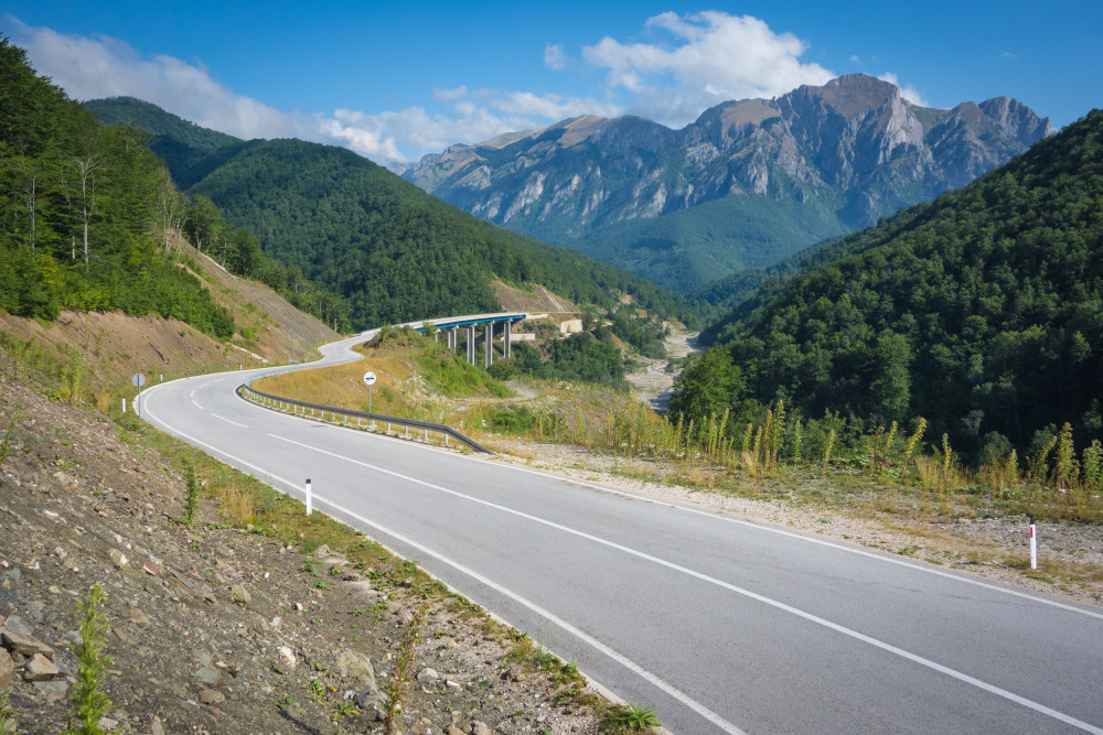 The mountains of Bosnia during the 2015 Transcontinental Race