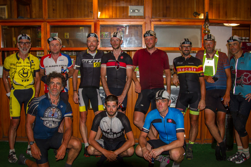 Day 16 finishers of the 2015 Transcontinental Race at Café Hisar in Istanbul
