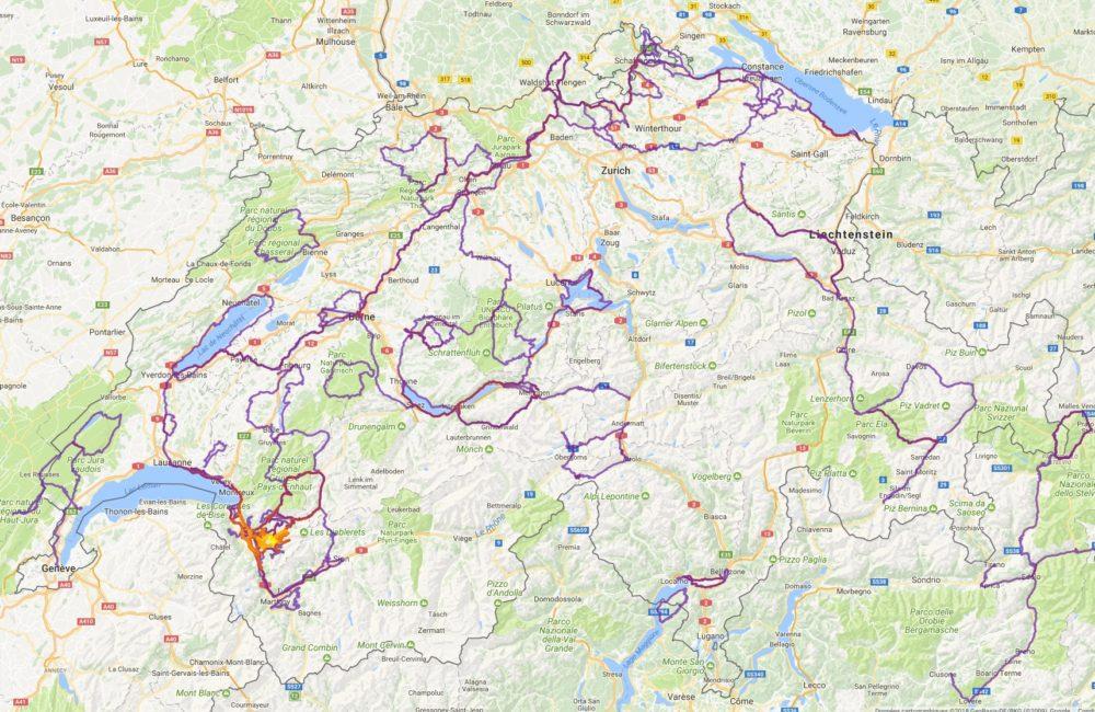 Everywhere I have ridden in Switzerland in 2017