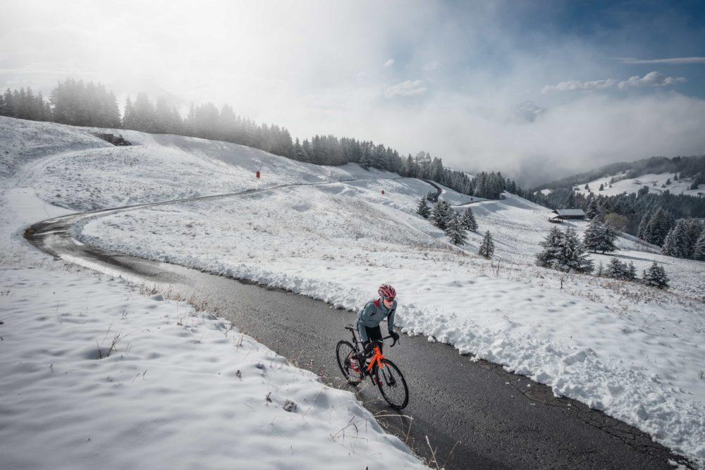 Winter ride above Gryon, Switzerland